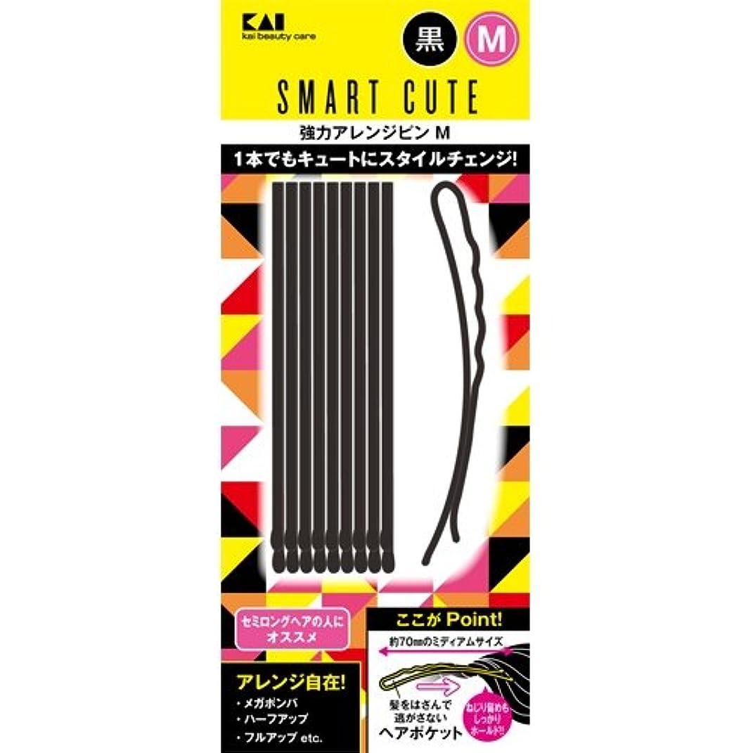 スマートキュート(SmartCute) 強力アレンジピンM (黒 ) HC3324