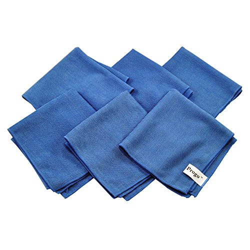 Progo Ultra Absorbent Microfiber Cleaning Cloths for LCD/LED TV Laptop Computer Screen iPhone iPad and More 6 Pack
