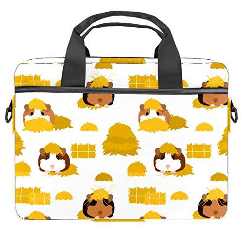 Doodle Guinea Pig Laptop Bag Laptop Shoulder Messenger Bag Case Sleeve Shockproof for 13'~14.5' Laptop