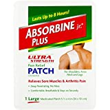 Absorbine Jr. Ultra Strength Pain Relief Patch  Relieves Sore Muscles and Arthritis Pain   Up to 8 Hours of Pain Relief   1 Patch