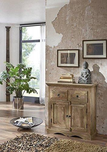 MASSIVMOEBEL24.DE Massivmöbel Kolonialstil Palisander geölt Sideboard Sheesham grau Kolonial massiv Holz Möbel LEEDS #41