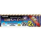 東芝 アルカリ乾電池 お徳用 LR03H 12MP 2Z 単4形・12本+2本パック