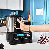 Moulinex HF4568 Click Chef Küchenmaschine mit Kochfunktion (1400 Watt, 12 Geschwindigkeitsstufen, Gesamtvolumen: 3,6 Liter, 28 Funktionen, inkl. Zubehör und Rezeptheft) Schwarz - 6