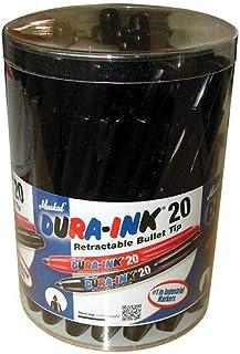 Markal - Dura-Ink 20 Retractable Marker - Black (Tub of 24)