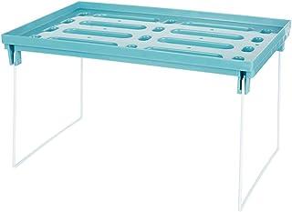 キッチンラック シンク下収納 折り畳み式 2段3段つ積み重ね可能 食器収納棚 調味料収納 小物入れ 卓上収納 台所 調理台 浴室 洗面所 省スペース 組み立て不要(ワイド、グリーン)