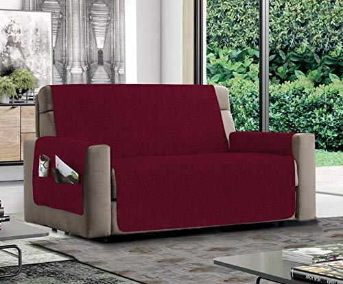 MB HOME BASIC Funda de sofá Antideslizante Relax, Color Burdeos, 1 Plaza