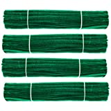 Waycreat 400 Pieces Pipe Cleaners Dark Green Chenille Stem for DIY Art Craft Decorations (6mm x 12 Inch)