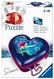 RAVENSBURGER PUZZLE- Herzschatulle Bezaubernde Meerjungfrauen Ravensburger 11249-Puzzle 3D (54 Piezas, a Partir de 8 años), diseño de Caja de corazón, Color Blanco (11249)