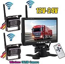 2x copia de seguridad 18LEDs IR visión nocturna impermeable cámara de visión trasera + inalámbrico de 2,4G inalámbrico 7
