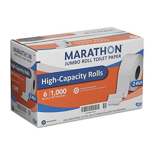 Product of Marathon Bath Tissue, 2-Ply (6 Jumbo Rolls) - Toilet Paper [Bulk Savings]