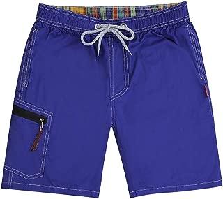 mebake Pocket Quick Dry Swimming Shorts with Liner Men Swimsuit Swim Boxer Beach Board Short