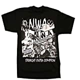 Photo de N W A Men T Shirt Hip Hop Rap NWA Dr Dre Eazy E DJ Yella MC Ren Black Cotton Tee T Shirts FrontBack Printing Euro Size S 3XL
