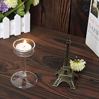 Best Design European Candlestick Glass Candle Holder Romantic Dinner Decoration Nds66, Brass Plated Candleholders - Blue Glass Candlesticks, Candle Holders, Antique Carved Candlestick