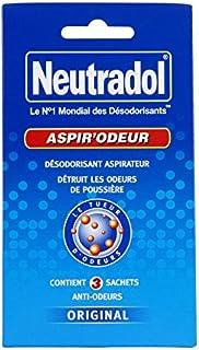 Neutradol Aspir'Odeur Désodorisant 3 Sachets pour Aspirateur - Lot de 3