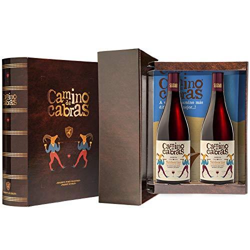 CAMINO DE CABRAS Box mit 2 Flasche rotwein Mencia Gourmet D.O.Valdeorras - 100% Mencia - 1500 ml. - Premium Wein