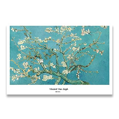 Colección Van Gogh, carteles impresos e impresiones, cuadros de pared, artistas clásicos, pinturas en lienzo sin marco de artistas R 40x60cm