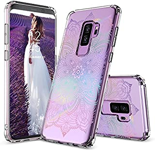 Galaxy S9 Plus Case, Galaxy S9 Plus Clear Case, MOSNOVO Gradient Rainbow Henna Mandala Clear Design Transparent Plastic Case with TPU Bumper Case Cover for Samsung Galaxy S9 Plus