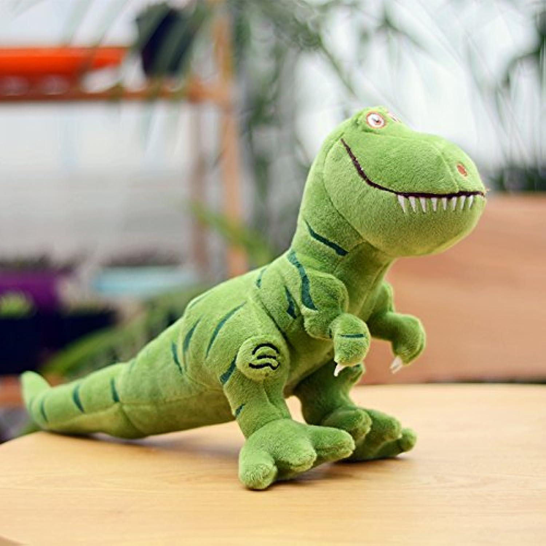 Giocattoli di Peluche di Dinosauro, Bambole dei Bambini Drago re, Bambole di pezza, Gattini di Simulazione Cuscino Ragazzi Regalo Compleanno Ragazze verde 50 cm (Lunghezza Intera)