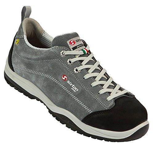 SIXTON Pasitos S3 Sicherheitsschuhe, Farbe:grau, Schuhgröße:43.5 (UK 9)