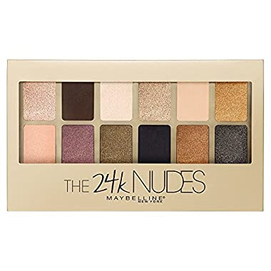 Maybelline Makeup The 24K Nudes Eyeshadow Palette, 12 Shade Shadow Palette, Gold Eyeshadow 0.34 oz