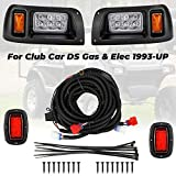 kemimoto Club Car DS Light Kit, LED Headlight & Tail Light for Gas & Electric Club Car DS Golf carts (1993 & up) 12V