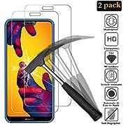 ANEWSIR [2 Stück] Schutzfolie für Huawei P20 Lite, Gehärtetes Glas Displayschutzfolie mit 9H Härte, Anti-Kratzen, Anti-Öl, Anti-Bläschen, Displayschutzfolie Folie Für Huawei P20 Lite.