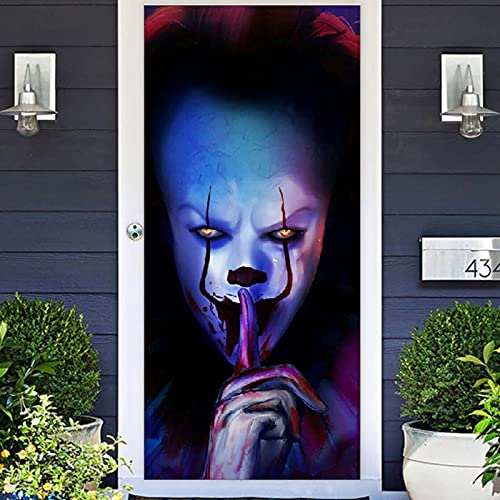 Joker Clown Halloween Photo Banner Backdrop Flag Background Favor Supplies Photo Props Trick or Treat Horror Killer…