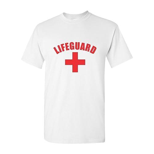 bc0425508103 Gildan Lifeguard T-Shirt Red Or White Tee YMCA Pool Staff T-Shirt
