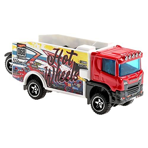Hot Wheels Véhicule Camion, Petite Voiture de Course, Jouet pour Enfant, Modèle Aléatoire, BFM60