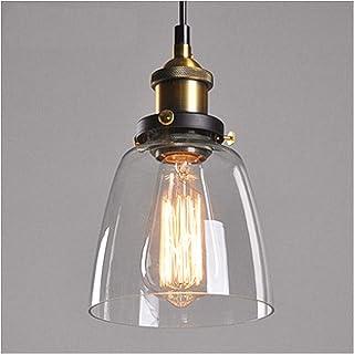 Glighone Rétro Suspension Luminaire Industrielle Vintage Plafonnier Edison Abat-jour en Verre Lustre Salon Lampe Design Pe...