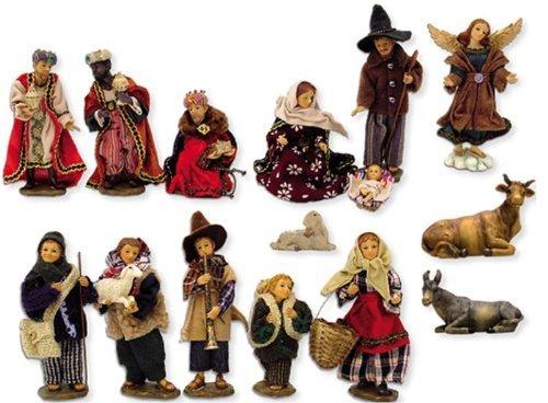 Krippe alpenländisch, 15-tlg. Set, für 11cm Figuren