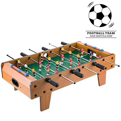 Divertidas Deportes Competitivos Juego De Mini-Juego De Futbolín, Billar Juguete Emocionante De Madera, Juegos De Fútbol De La Familia para Interior Y Exterior, 69 X 37 X 22,5 Cm