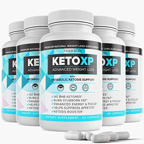 (5 Pack) Keto XP Diet Pills Advanced Management, Keto XP para Bajar de Peso, Keto XP Max Tablets Capsules 800 mg, Pure Keto Fast Supplement for Energy, Focus - Exogenous Ketones for Men Women