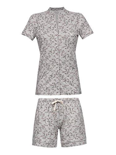 Vive Maria Cherry Blossom Kurz Pyjama Grau Allover, Größe:M