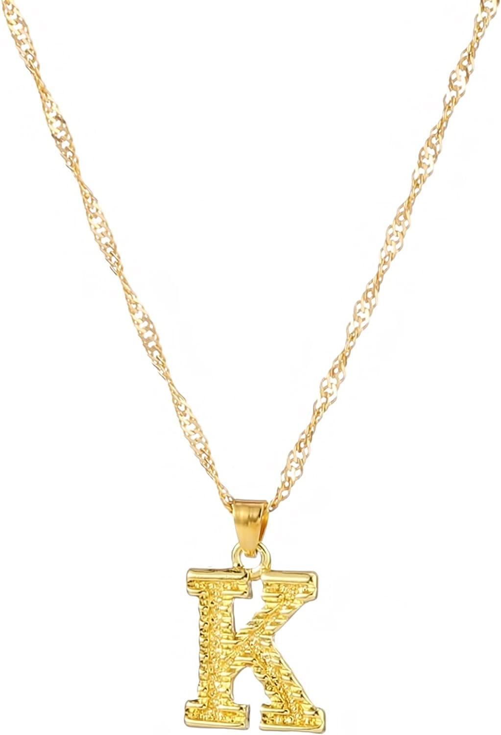GOMYIE Big Letter Necklace Alloy Initial Pendant Best Friends Jewelry For Birthday Christmas Gifts