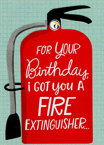 Designer Greetings I Got You a Fire Extinguisher Funny/Humorous Birthday Card