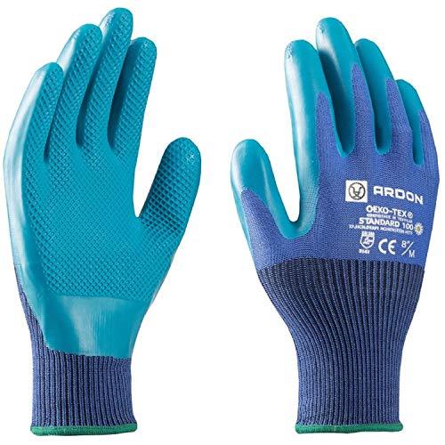 Guanti da lavoro - ecologici, sicuri per le mani, antiscivolo, bio guanti da giardino, ideali per riparazioni, officina, casa, confortevole, certifica
