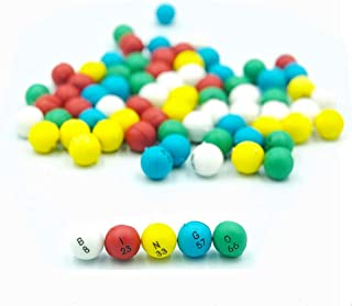Yuanhe 3/5 inch Multi-Color Plastic Replacement Bingo Balls for Bingo Games