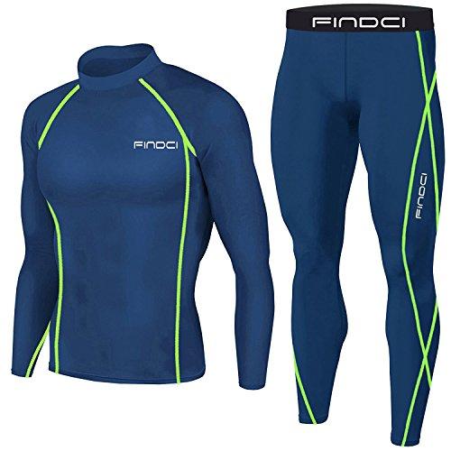 Set da Uomo, 2 Pezzi Maglia e Pantaloni, Motivo: Mimetico, Stile sportivo, per corsa e allenamento, ad asciugatura rapida, Deep Blue (1), M
