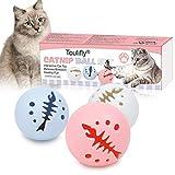 Juguetes Gatos Pelotas, Bola de Gato, Pelota de Gatos Movimiento Pelota de Ejercicio Gatos Bola, Juguete interactivo para gatos, bolas de juguete para gatos con bola de luz de flash