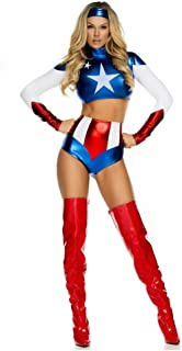 Women's Pretty Patriot Star Spangled Hero Top with Shorts