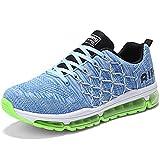 Zapatillas de Deporte Hombre Mujer Running Bambas Ligero Zapatos para Correr Respirable Calzado Deportivo Andar Crossfit Sneakers Gimnasio Moda Casuales Fitness Outdoor Bluegreen-45