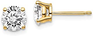 14k Yellow Gold 1 1/2ctw SI1/SI2, G H I, Lab Grown Diamond 4-Prg Earring