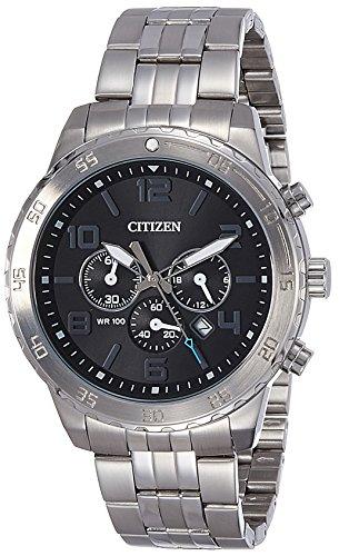 Citizen AN8130-53E - Reloj de cuarzo para hombre, acero chapado en plata, diseño japonés