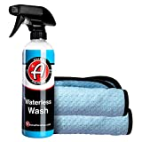 Adam's Waterless Car Wash 16oz - Made with Advanced Emulsifiers and Special Lubricants - Eco-Friendly Waterless Car Washing with No Hoses, No Water, No Messes (16oz Combo)