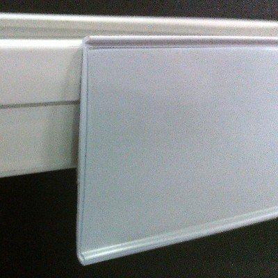Pack de 50 portaprecios con adhesivo a 1 metro para etiquetas de 39mm . Color Blanco