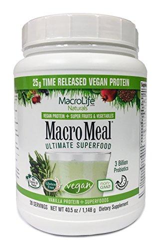 MacroLife Naturals MacroMeal Vegan Vanilla Protein - 28 Servings