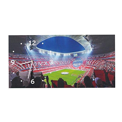 FC Bayern München modische Wanduhr, Uhr, Wall Clock Allianz Arena FCB - Plus gratis Aufkleber Forever München