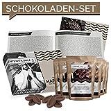 Schokolade Geschenkset 7 Schokolade aus aller Welt Geschenkbox | Weltreise Geschenkidee Schoko Geschenkset für Frauen Männer | Schokoladen Box Geburtstag Ostern