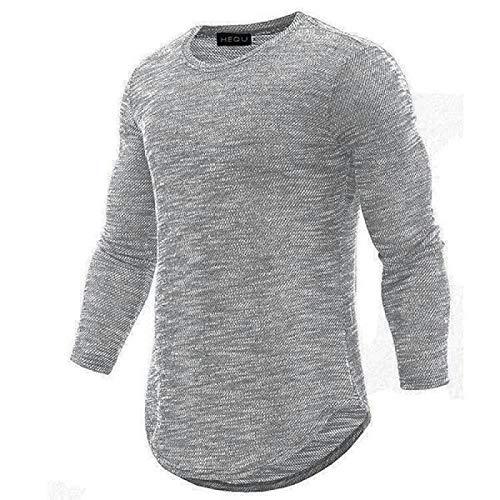 Camiseta para Hombre de Manga Larga con Nieve de Cobertura Delgada y Nueva Personalidad para Hombre